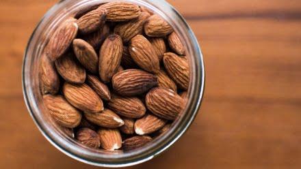 almonds in a jar