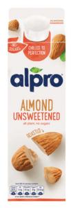 Alpro unsweetened almond drink