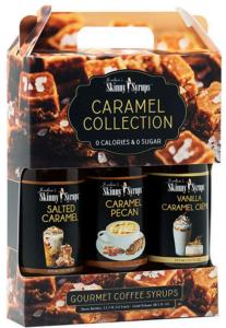 Sugar Free Syrup Trio 3x375ml Salted Caramel, Caramel Pecan and Vanilla Carame Creme
