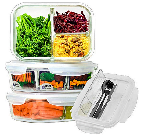 Home Planet Glass  3 compartment