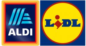 Aldi and Lidl company logos