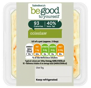Sainsbury's Be Good To Yourself Coleslaw
