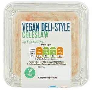 Sainsbury's Rich Vegan Deli-Style Coleslaw