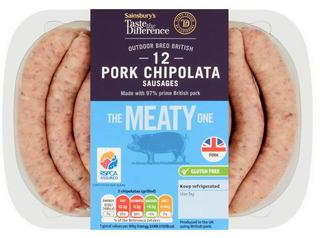 Sainsbury's Pork Chipolata, Taste the Difference