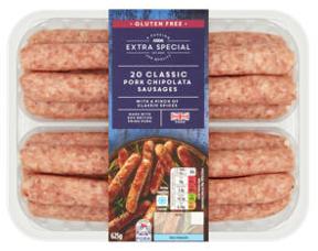 Asda Extra Special 20 Classic Pork Chipolata Sausages