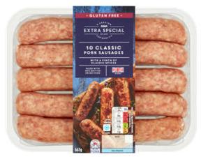Asda Extra Special 10 Classic Pork Sausages