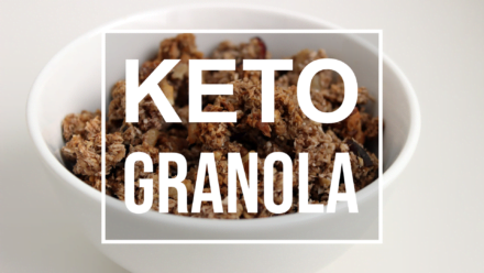 keto granola in a bowl
