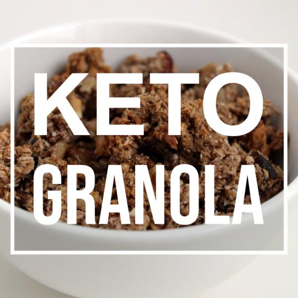 keto granola in a bowl