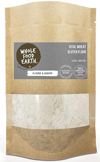 Wholefood Earth - Vital Wheat Gluten Flour - Vegan - GMO Free - 3kg