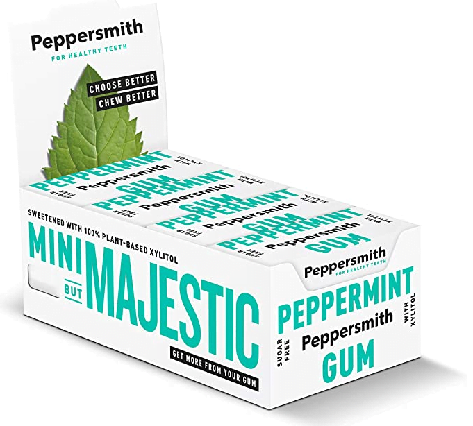 Peppersmith English Peppermint 100% Xylitol-Sweetened Chewing Gum