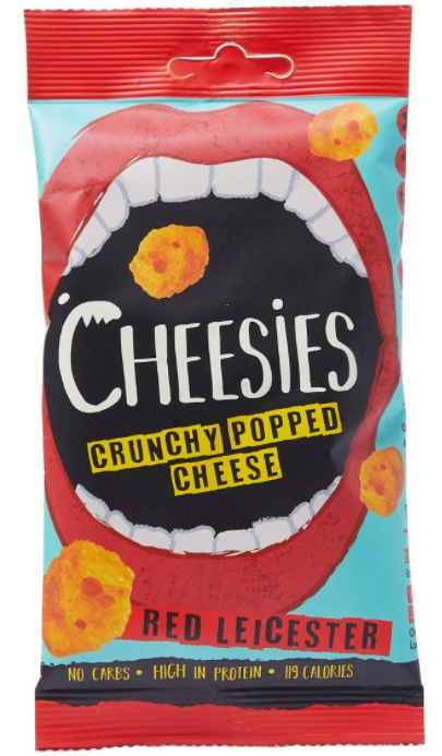 Cheesies Crunchy Popped Cheese Snack, Red Leicester