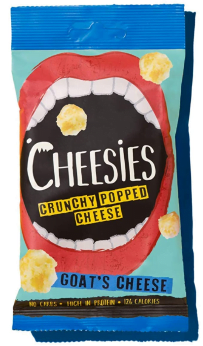 Cheesies Crunchy Popped Cheese Snack, Goat's Cheese