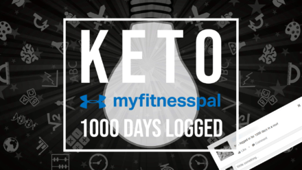 keto myfitnesspal 1000 days logged