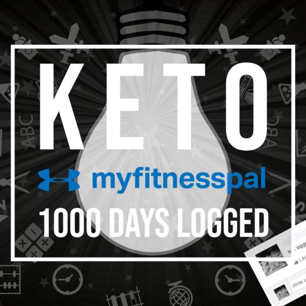 keto myfitnesspal 1000 days logged