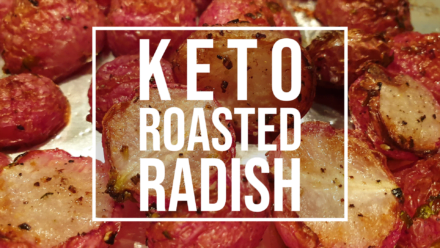keto roasted radish - low carb potatoes