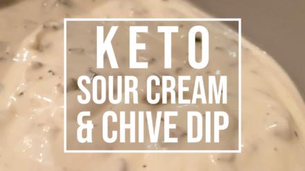 keto sour cream and chive dip recipe