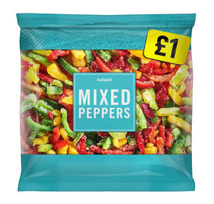 Iceland frozen mixed peppers