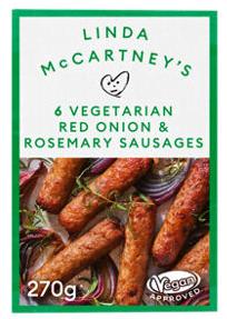 Linda McCartney's 6 Vegan & Vegetarian Red Onion & Rosemary Sausages