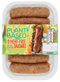 ASDA Plant Based Meat-Free Sausages